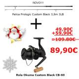Komplet rola Okuma in palica Prologic Custom Back