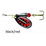 Spinner Cormoran Bullet Long Cast black/red dots št:1-4