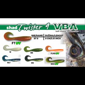 Silikonska vaba VBA Shad Twister 9cm- izbira