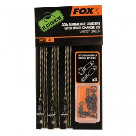 Sistem Fox 30lb Submerge Leaders With Kwik Change Kit- weedy