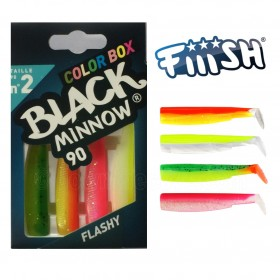 Vaba Fiiish Black Minnow Color Box 90mm 4pcs- izbira