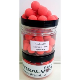 Fluo Pop Up Centralvod Baits Superspice+BBQ 15mm 60g