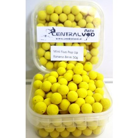 Mini Fluo Pop Up Centralvod Baits 8mm 50g- Banana