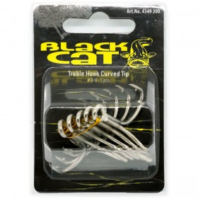 Trojčki za soma Black Cat Treble Hook Curve Tip 4/0