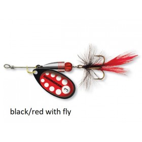 Spinner Cormoran Bullet Long Cast black/red fly št:1-4