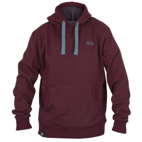 Pulover Fox Chunk Ribbed Hoodie Burgundy XL