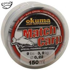 Najlon Okuma Match Carp Light Grey 0,28mm-0,35mm 150m
