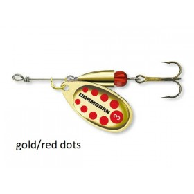 Spinner Cormoran Bullet Long Cast gold/red dots št:1-4