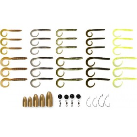 Set Savage Gear Rib Worm Kit 47kom