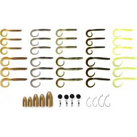 Set Savage Gear Rib Worm Kit 47kom