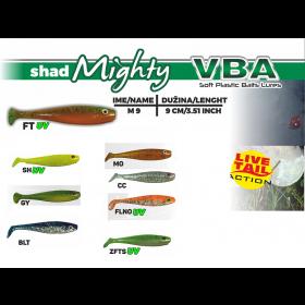 Silikonska vaba VBA Mighty Shad 9cm- izbira