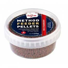 Peleti Method Feeder Carp Zoom 3mm 120g- Red Strawberry