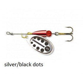 Spinner Cormoran Bullet Long Cast silver/black dots št:1-4