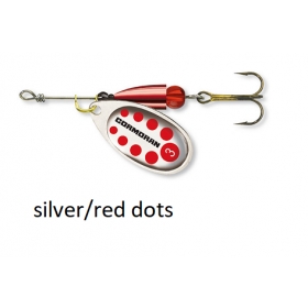 Spinner Cormoran Bullet Long Cast silver/red dots št:1-4