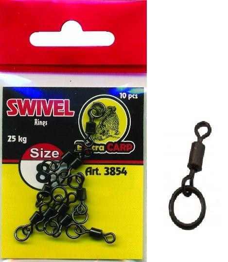 Vrtljivke Extra Carp Swivel Rings št:8