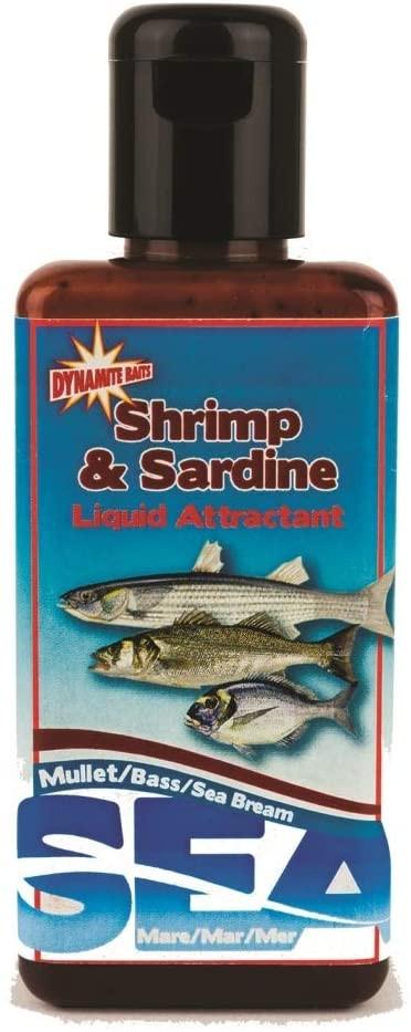 Tekočina Dynamite Baits Sea Bait Liquid Shrimp and Sardine 250ml