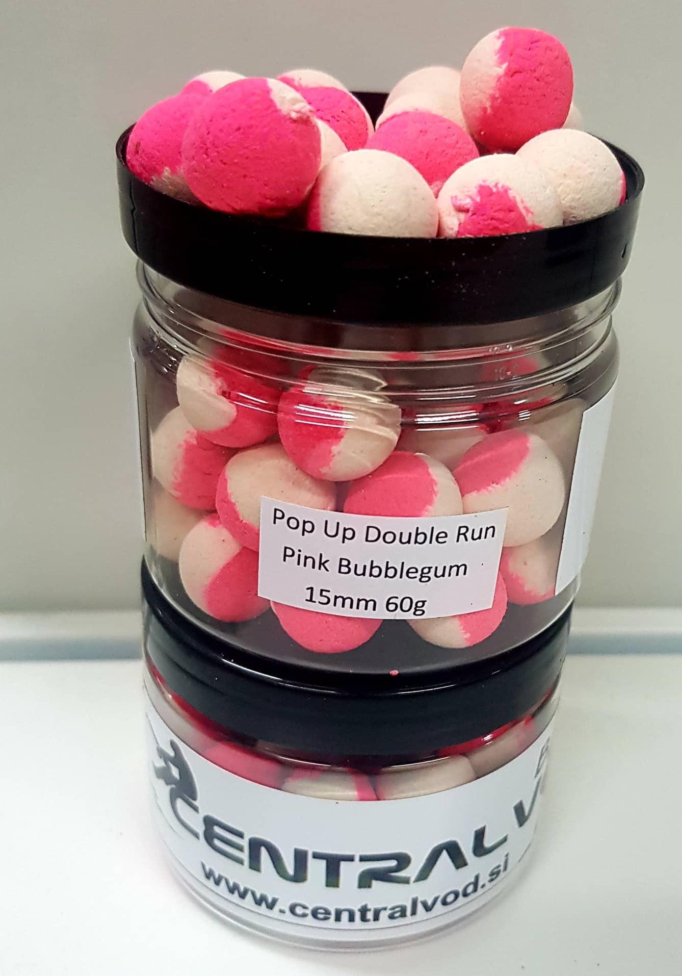 Pop Up Centralvod Baits Double Run Pink Bubblegum 15mm 60g