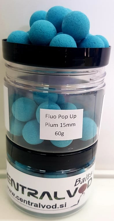 Fluo Pop Up Centralvod Baits Plum 15mm 60g
