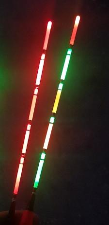 Plovec na baterije IBite Cigar Neon Red 3-5g