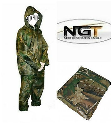 Dežna obleka NGT Camo Waterproof set XL-XXL