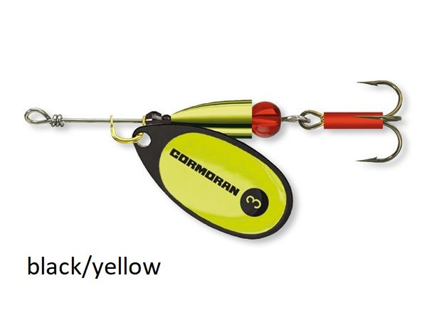 Spinner Cormoran Bullet Long Cast black/yellow št:1-3