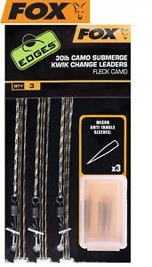 Fox 30lb Camo Submerge Kwik Change Leaders CAC709