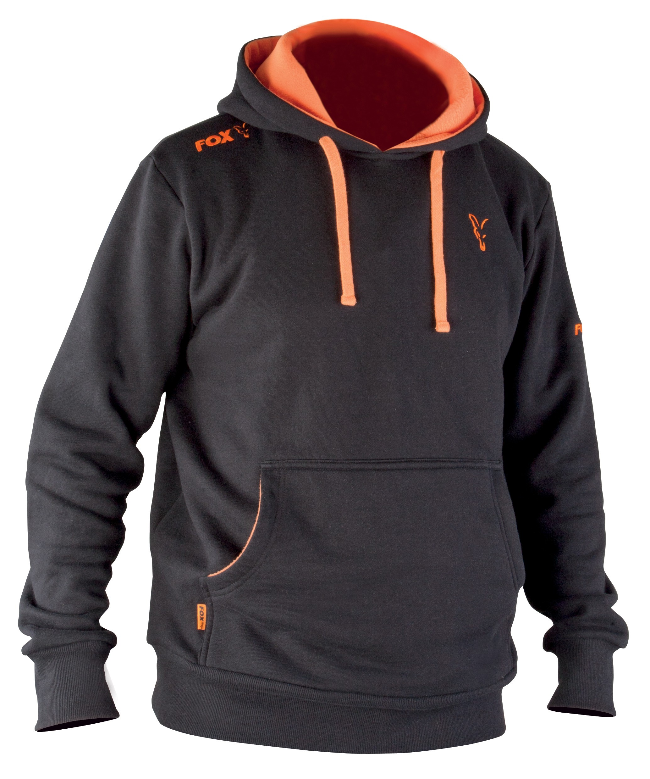 Pulover Fox Black Orange Hoodie XL