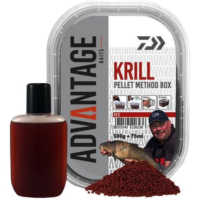 Peleti Daiwa Advantage Baits Krill Pellet Method Box