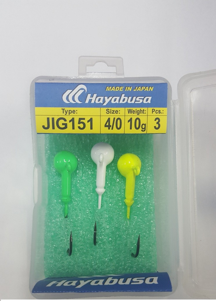 Jig Trnki Hayabusa Jig Fej barvni 2/0 10g 4pcs
