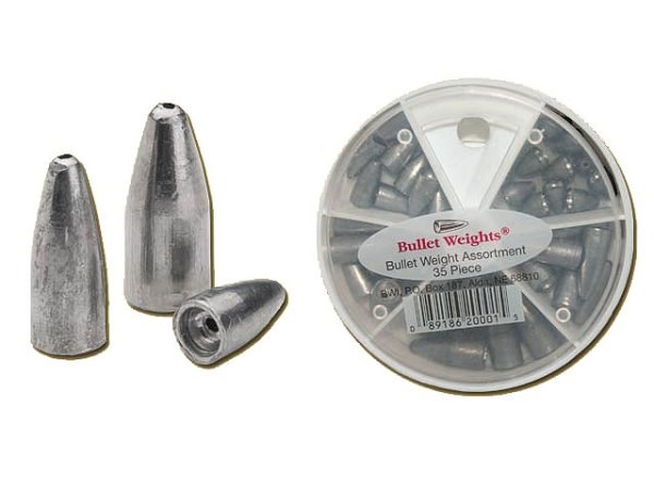 Svinci Bullet Weights Set 35pcs