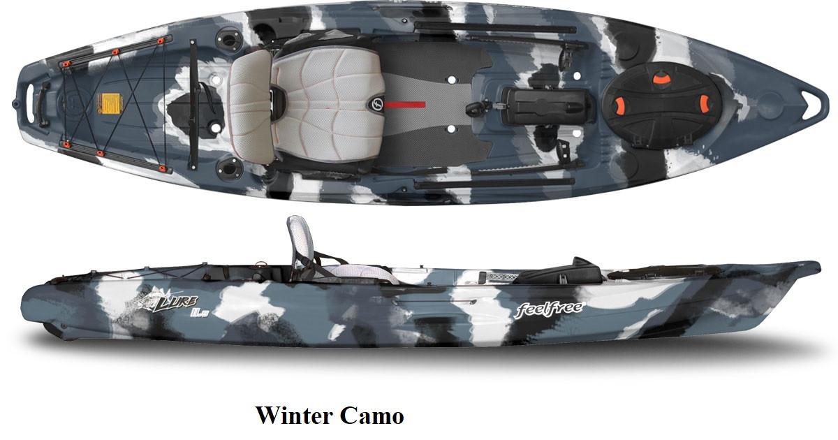 Kajak za ribolov Feelfree Lure 13,5 Sonar pod -Winter Camo