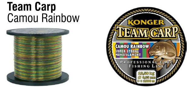 Najlon Konger Team Carp Camu Rainbow 0,28-0,35mm 1000m