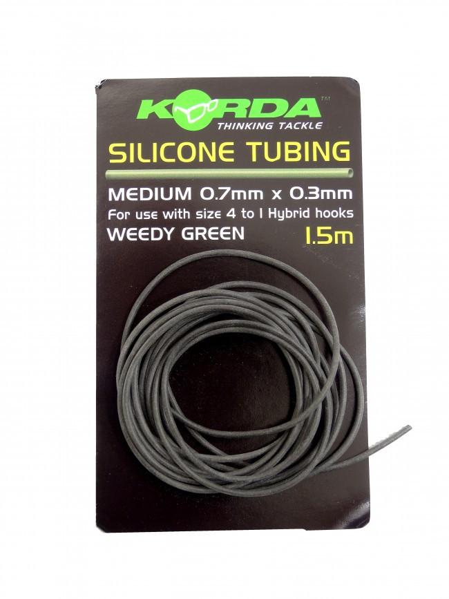 Korda Silicone Tubing Medium 0,7mm- weedy green