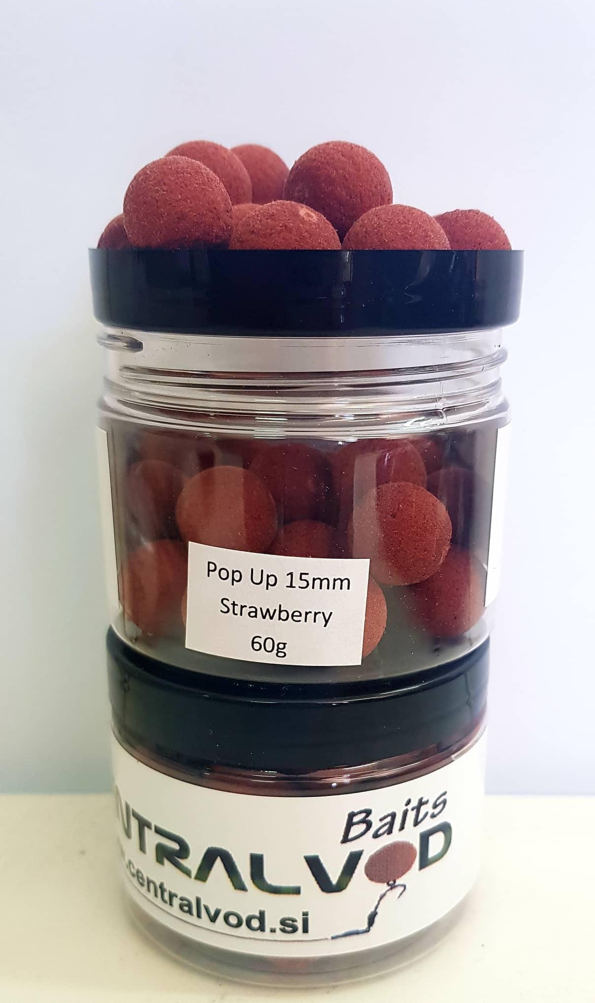 Pop Up Bojli Centralvod Baits Strawberry 15mm 60g