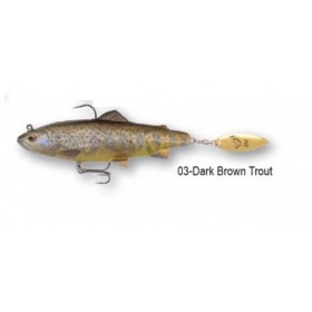 Vaba Savage Gear 4D Trout Spin Shad 14,5cm 80g- dark brown trout