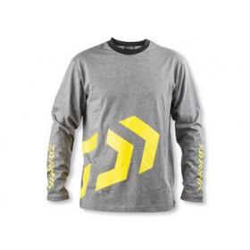 Majica Daiwa D-Vec T-Shirt LS grey/yellow M-XXL