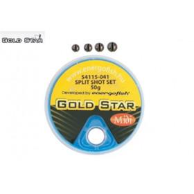 Svinci v škatlici Gold Star Split Shot Midi 50g