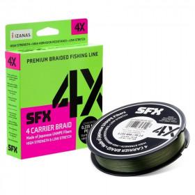 Pletena vrvica Sufix SFX 4X 0,14-0,18mm 135m- green