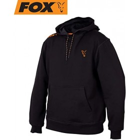 Pulover Fox Collection Hoody Black/Orange S-XXL