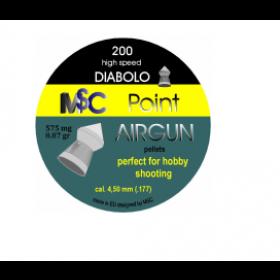 Metki za zračno puško MSC Point Airgun 4,5mm 200kom