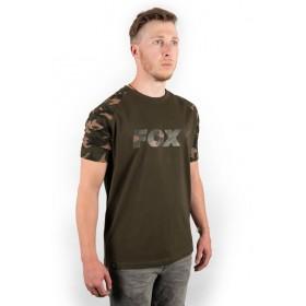 Majica Fox T-Shirt Raglan Khaki/Camo L-XL