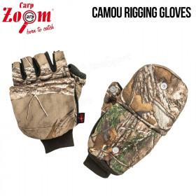 Rokavice Carp Zoom Camou Rigging Gloves
