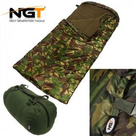 Spalna vreča NGT XPR 5 Season Camo Fleece Sleeping Bag