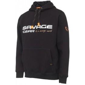 Pulover Savage Gear Cosmo Hoodie Black Ink M-XL