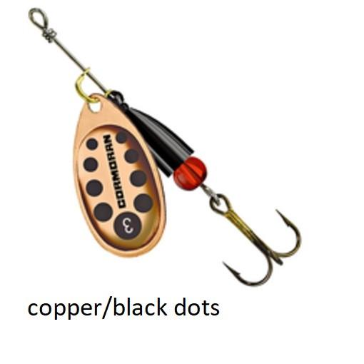 Spinner Cormoran Bullet Long Cast copper/black dots št:1-4
