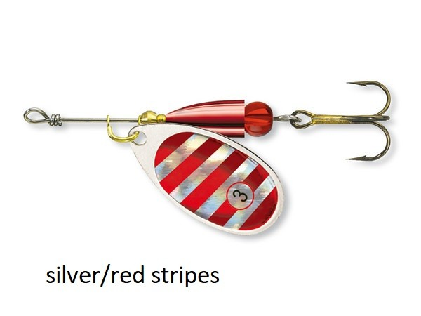 Spinner Cormoran Bullet Long Cast silver/red stripes št:1-3