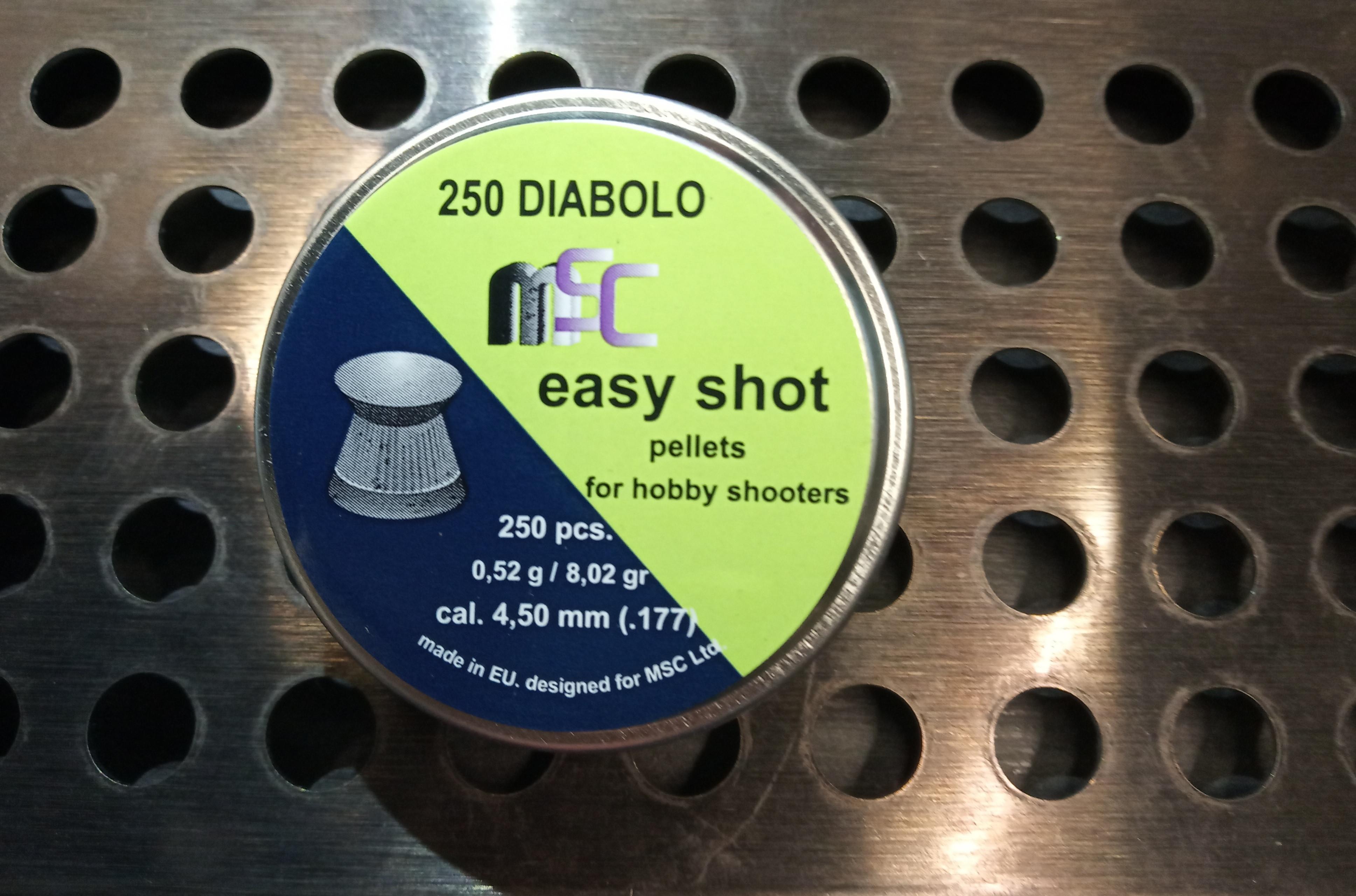 Metki za zračno puško MSC Easy Shot 4,5mm 250kom