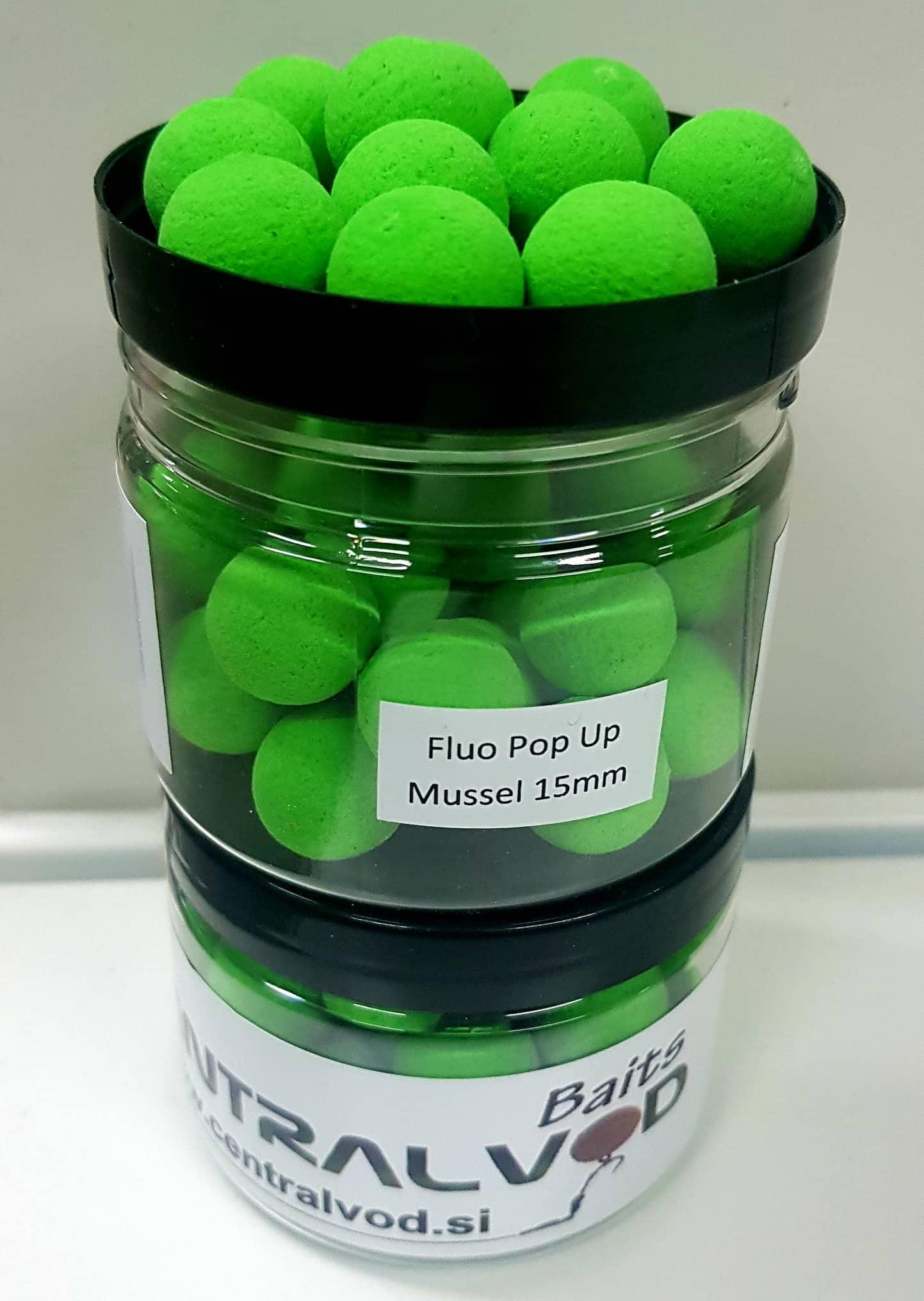 Fluo Pop Up Centralvod Baits Mussel 15mm 60g