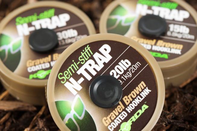 Vrvica Korda N-Trap Semi-Stiff 20LB 20m- gravel brown