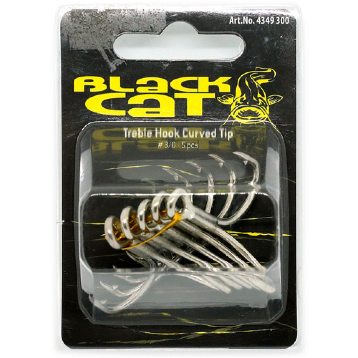 Trojčki za soma Black Cat Treble Hook Curve Tip 4/0